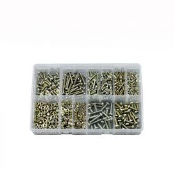 Steel Machine Screws & Nuts, Assorted Box