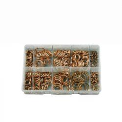 Copper Compression Washers, Assorted Box