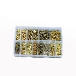 Brass Machine Fasteners, Assorted Box