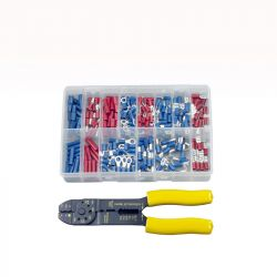 Insulated Terminals & Crimping Tool, Assorted Box
