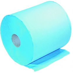 Small Blue Paper Roll, Centre Feed