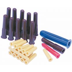 Plastic Wall Plugs, Assorted Pack