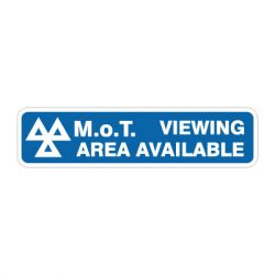 MOT Viewing Area Available