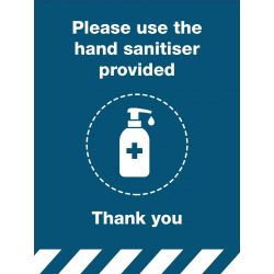 Hand Sanitiser Provided Sign
