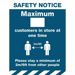 Safety Notice Maximum Customer Sign
