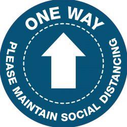 One Way Arrow Floor Vinyl