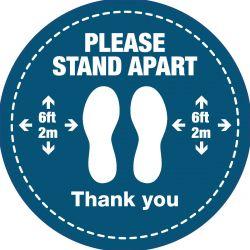 Please Stand Apart Floor Vinyl