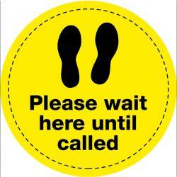 Please Wait Until Called Floor Vinyl