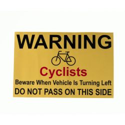 Do Not Pass Cyclist