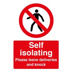 Self-Isolating Leave Deliveries Sign