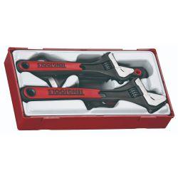Adjustable Wrench Set - TPR  Grip