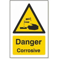 Danger Corrosive S Sticker