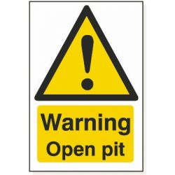 Warning Open Pit