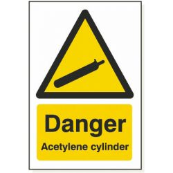 Danger Acetylene Cylinder
