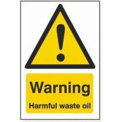 Warning Harmful Waste Oil