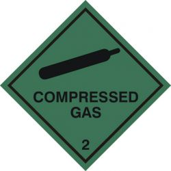 Compressed Gas Sticker