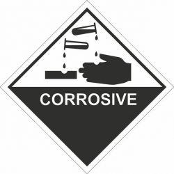 Corrosive Sticker